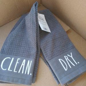 Rae Dunn kitchen towel set